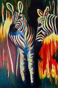 Bunte Zebras von Lyda Geeratz