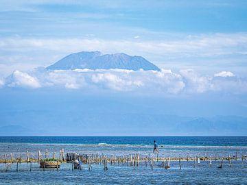 Indonesië - Nusa Penida - Vissen voor een vulkaan van Rik Pijnenburg
