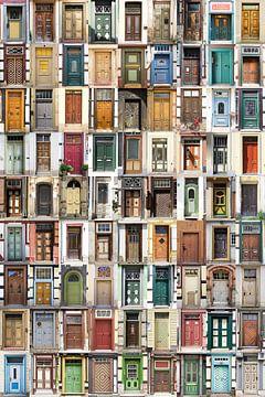 De deuren in de Harz, collage van Henk Elshout