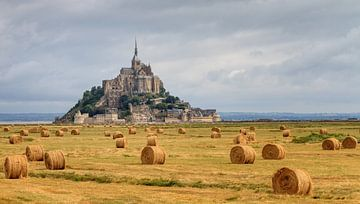 Mont Saint-Michel met strobalen van