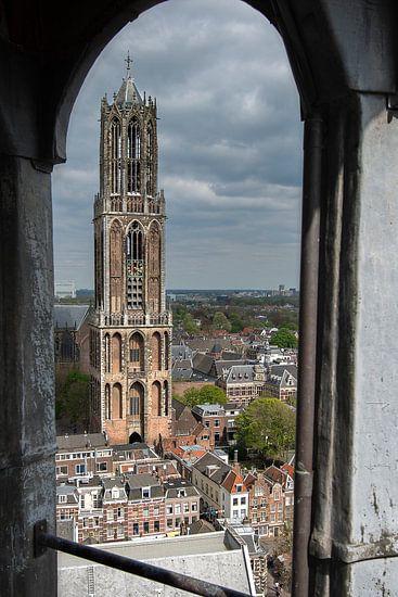Uniek standpunt op de Domtoren in Utrecht