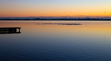 Zonsondergang aan het meer van Marjo Dekker