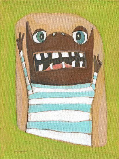 Monstertje Body - Schilderij voor Kinderen van Atelier BuntePunkt