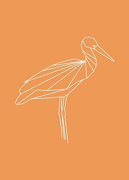 Storch - Grafische Tiere von Dieuwertje en Kevin van der Linden - Meijer