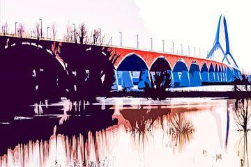 De brug De Oversteek over de Waal bij Nijmegen von Maerten Prins