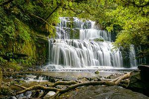 Purakaunui watervallen, Zuidereiland, Nieuw Zeeland