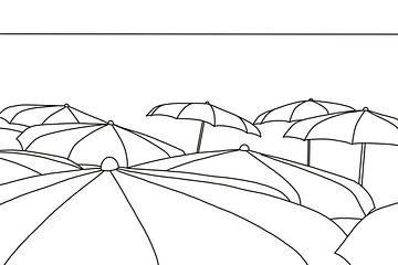 Parasols zwart wit van MishMash van Heukelom