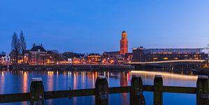 Avondfotografie Skyline Hanzestad Zwolle met de Perperbus