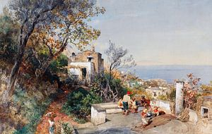 Oswald Achenbach.Blick auf Neapel
