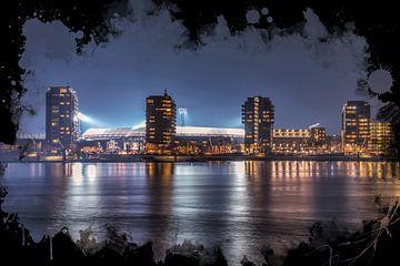 "Feyenoord ART Rotterdam Stadion ""De Kuip"" Torens van MS Fotografie | Marc van der Stelt"