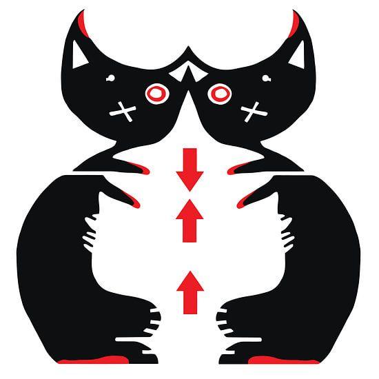 Due Gatti [twee katten] van  SheThinks inColors