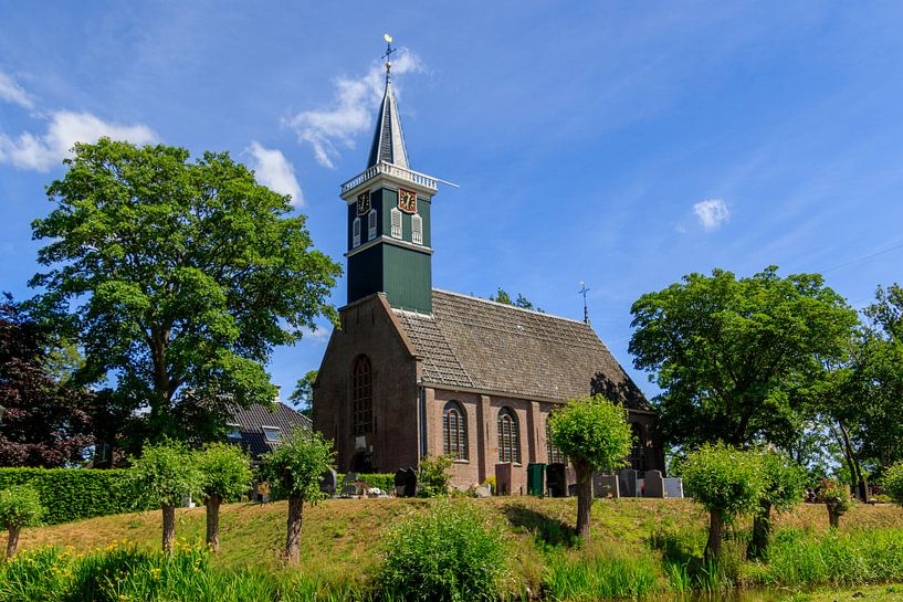 Historische dorpskerk van Grootschermer van Photo Henk van Dijk