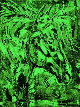 Horse Spirit leuchtend grün von Kathleen Artist Fine Art