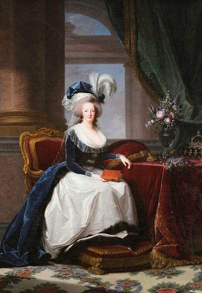 Porträt von Marie Antoinette, Königin von Frankreich, Élisabeth Vigée-Le Brun von Meesterlijcke Meesters
