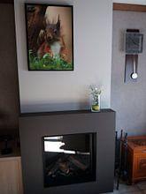 Klantfoto: Eekhoorn van Wouter Midavaine, op canvas