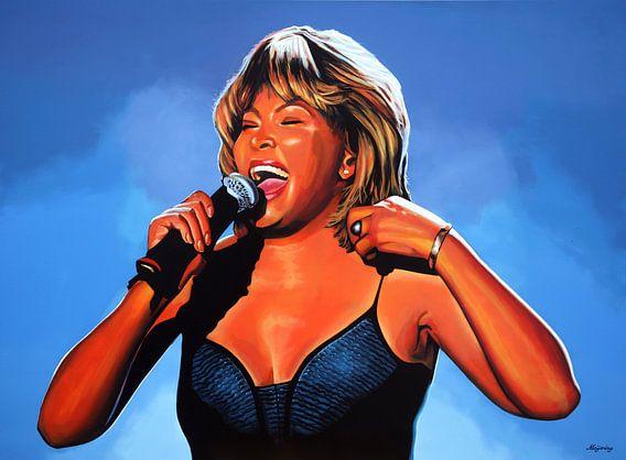 Tina Turner Schilderij 2  van Paul Meijering