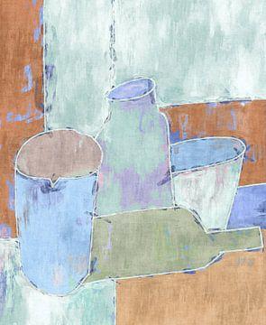 Stilleven met aardewerk van Joost Hogervorst