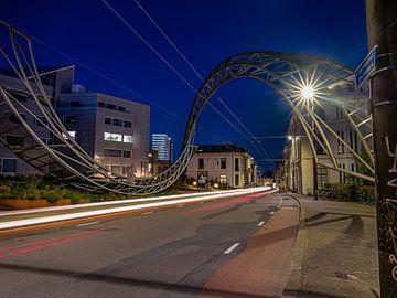Utrechtsestraat Arnhem nachtfoto van Vincent Bottema