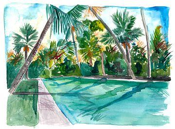 Der kühle ruhige Key West Florida Pool von Markus Bleichner