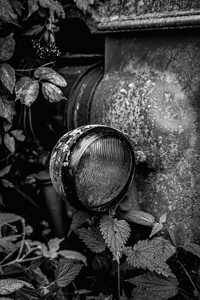 DEUTZ TRACTOR BLACK AND WHITE van SchippersFotografie