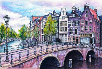 Stadt Serie 02 - Amsterdam B von Yeon Yellow-Duck Choi