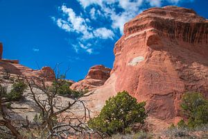 Indrukwekkende rotsen in Arches National Park van Rietje Bulthuis