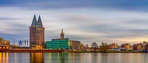 Skyline Roermond, lange belichting zonsondergang