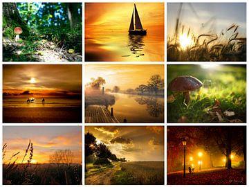 herfst collage 2 van Marja Hoebe