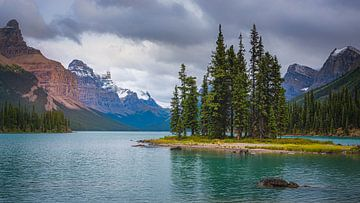 Spirit Island, Jasper Nationalpark, Alberta, Kanada. von Henk Meijer Photography