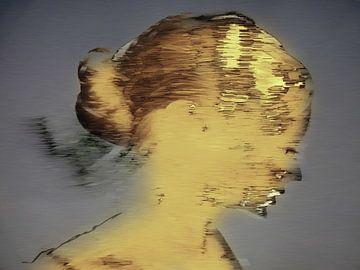36.  Vrouw, silhouet, portret, Caca. van