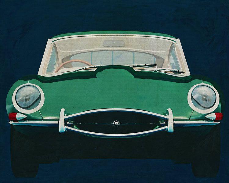 Jaguar E-Type 1960 Voorkant van Jan Keteleer