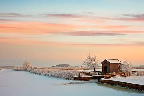 Gemaal in wintersetting