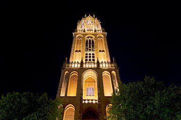 Von unten beleuchtet Domtoren gesehen Utrecht von Anton de Zeeuw