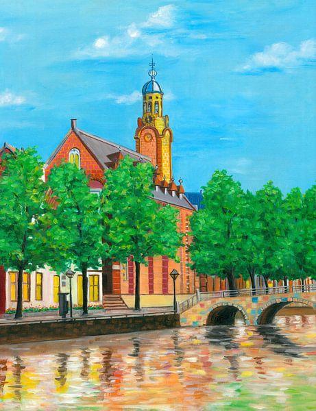 Leiden schilderij Academiegebouw van Kunst Company