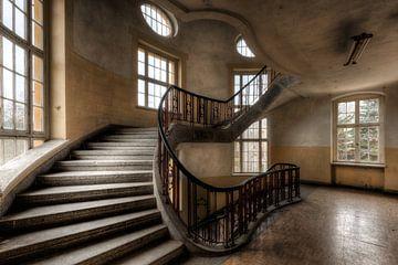 Escalier en colimaçon étendu sur