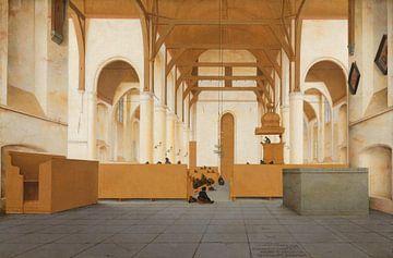 Innenansicht der Sint-Odulphuskerk in der Assendelft, Pieter Jansz. Saenredam - 1649