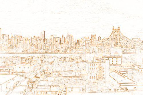 Manhattan with Queensboro bridge von Susan Hol