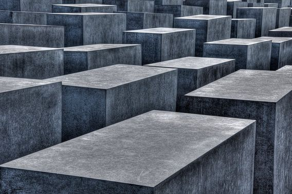 Judengedenkmal Abstract monochrome bleu van Patrick LR Verbeeck