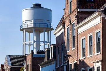 De antieke, in 1909 gebouwde, watertoren van Vianen in Nederland van Peter de Kievith Fotografie