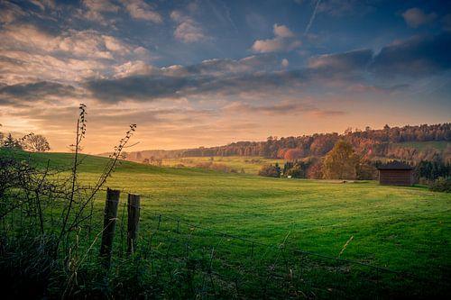 Landschap in de Ardennen, Sprimont van Kim Bellen