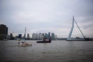 boten bij de Erasmusbrug van Eugenlens