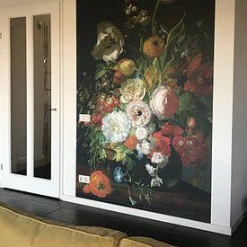 Kundenfoto: Stillleben mit Blumen in einer Glasvase,Rachel Ruysch von Meesterlijcke Meesters