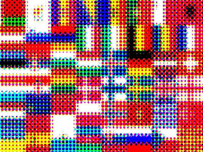 Vlaggen van Europa 4: rasterpatroon van Frans Blok