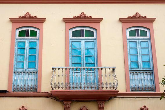 Balkondeuren in kleuren van Jolanda van Eek
