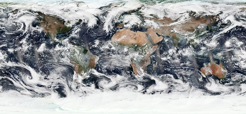 Kaart van de Wereld van Digital Universe