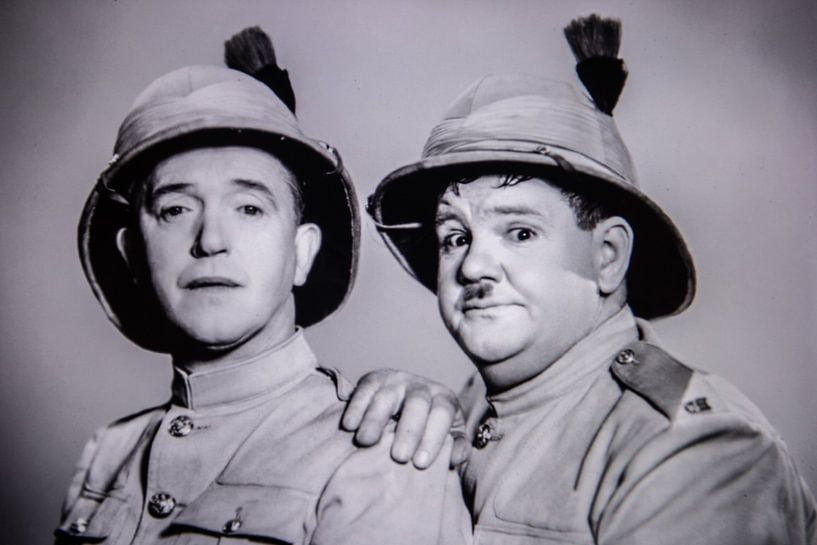Stan Laurel and Oliver hardy van Brian Morgan