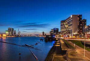 Boompjes Rotterdam in het blauwe uur