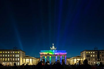 Berlin Skyline - projection sur la Porte de Brandebourg sur Frank Herrmann