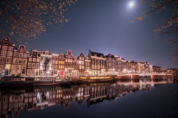 moonlit amsterdam
