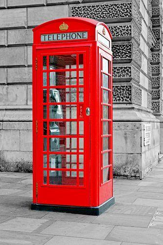 Rode telefooncel Londen van Anton de Zeeuw